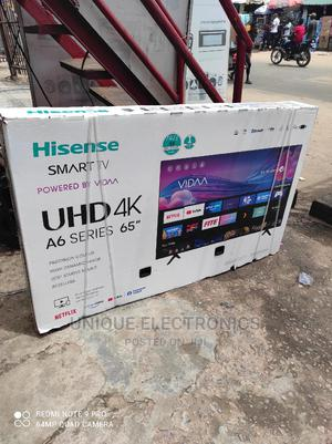 Hisense 65''inch A6 Series 4K UHD Wifi BEZELLES Netflix App   TV & DVD Equipment for sale in Lagos State, Ojo