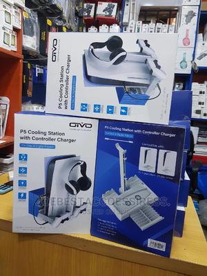 Ps 5 Cooling Station With Controller Charger | Accessories & Supplies for Electronics for sale in Lagos State, Ikeja