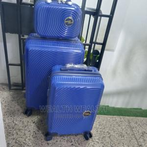 Portable Zippered Swiss Polo Trolley Suitcase Blue Bag | Bags for sale in Lagos State, Ikeja