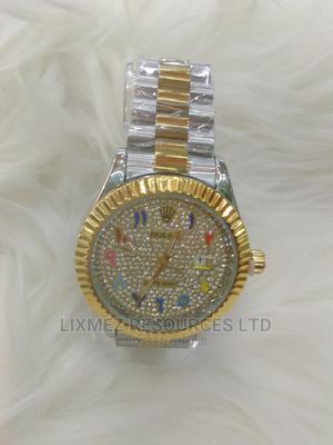 Silver and Gold Multi Colour Arabic Rolex Watch   Watches for sale in Lagos State, Surulere