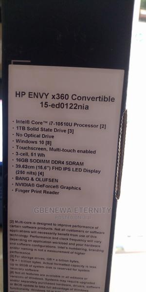 New Laptop HP Envy X360 15t 16GB Intel Core I7 HDD 1T | Laptops & Computers for sale in Kano State, Fagge