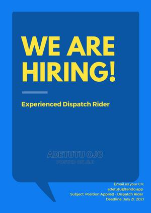 Dispatch Rider wanted | Logistics & Transportation Jobs for sale in Lagos State, Yaba