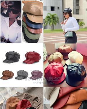 Unisex Leather Beret Ad Cap   Clothing Accessories for sale in Lagos State, Lagos Island (Eko)