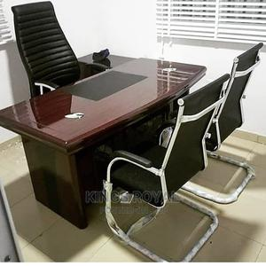 Imported Executive Office Table With Three Chairs | Furniture for sale in Abuja (FCT) State, Maitama