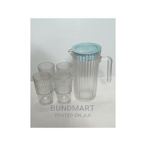 COMATE Glass Cups and Jug for Beer - 300ml and 1200ml (5pcs) | Kitchen & Dining for sale in Lagos State, Ikeja