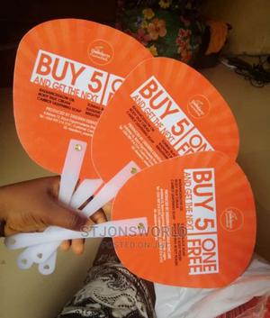 Hand Fan Branded   Printing Services for sale in Lagos State, Shomolu