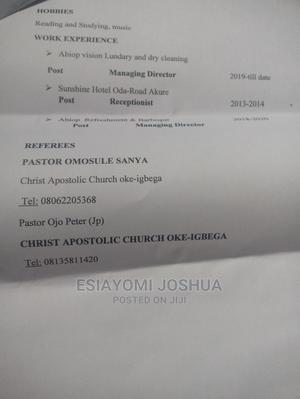 Customer Service CV | Customer Service CVs for sale in Lagos State, Ajah