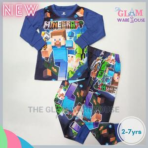 Minecraft Boys Pyjamas Night Sleep Wear Set 2yrs | Children's Clothing for sale in Lagos State, Surulere