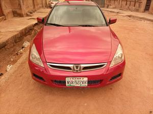 Honda Accord 2007 2.0 Comfort Automatic Red | Cars for sale in Kaduna State, Zaria