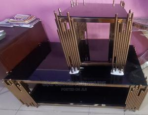 Glass Centre Table With Side Stools   Furniture for sale in Lagos State, Ikeja