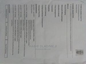 Clerical Administrative CV | Clerical & Administrative CVs for sale in Lagos State, Surulere