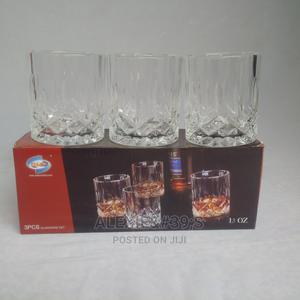 3 Piece Crystal Whiskey and Brandy Short Drinking Glasses | Kitchen & Dining for sale in Abuja (FCT) State, Kubwa