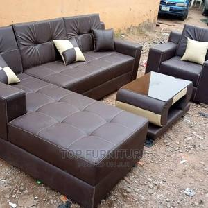 Chocolate Brown Leather Chair | Furniture for sale in Lagos State, Ikeja