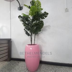 Monstera Artificial Plant With Pink Fibre Glass for Sale | Garden for sale in Lagos State, Ikeja