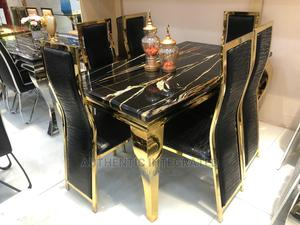 Marble Dining Set by 6 Chairs | Furniture for sale in Lagos State, Surulere