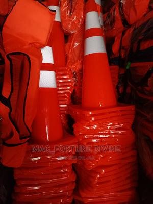 PVC Original Safety Cone 70cm | Safetywear & Equipment for sale in Lagos State, Surulere