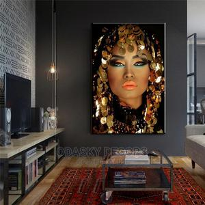 Bling Gold Makeup Woman Canvas   Home Accessories for sale in Lagos State, Ikoyi