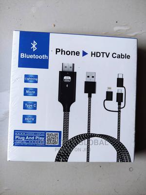 Bluetooth Phone HDTV, Lightning,Micro,Type C Adapter Cable   Accessories & Supplies for Electronics for sale in Lagos State, Isolo