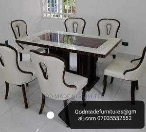 Original Modern Design Marble Dining Table With 6 Chairs   Furniture for sale in Lagos State, Surulere