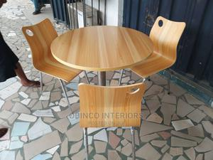 Round Wooden Table and Chair   Furniture for sale in Lagos State, Ojo