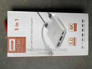 USB Type C Hub to HDTV HDMI Multi - Adapter 5 in 1   Accessories & Supplies for Electronics for sale in Lagos State, Yaba