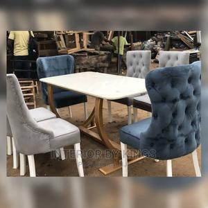 6seater Dining Set(Lead Time)7days Made With HDF Wood | Furniture for sale in Lagos State, Ikoyi