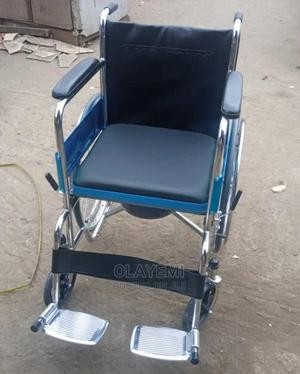 Comfort Wheelchair With Commode | Medical Supplies & Equipment for sale in Lagos State, Mushin