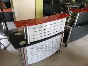Imported, Reception Metal Table With Glass Top | Furniture for sale in Lagos State, Shomolu