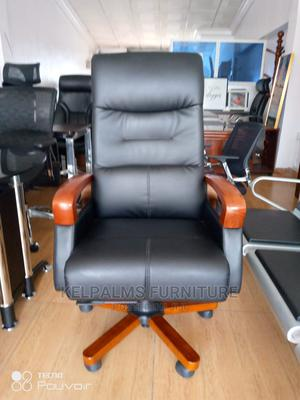 Super Executive Swivel Chair Wooden Hand and Star Leg | Furniture for sale in Lagos State, Ajah