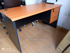 Wooden Office Table 4 Feet With 3 Drawers   Furniture for sale in Lagos State, Ajah