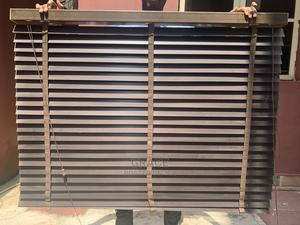 Brown Wooden Blinds 1.3m X 1m | Home Accessories for sale in Lagos State, Ikoyi