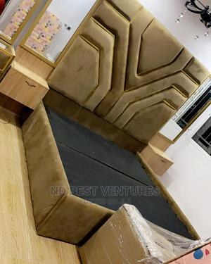 Classic Modern Padded Bed Frame   Furniture for sale in Lagos State, Lekki
