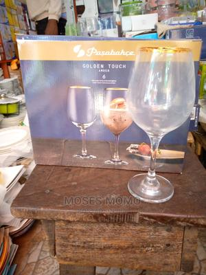 Wine Glass Cup With Gold in the Mouth   Kitchen Appliances for sale in Lagos State, Lagos Island (Eko)