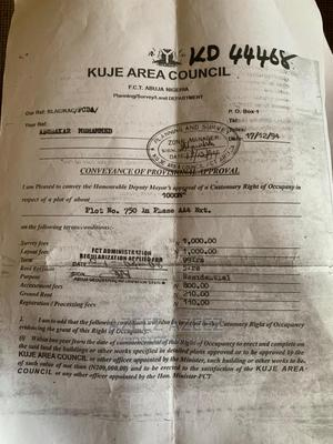 1000sqm in Kuje for Sale   Land & Plots For Sale for sale in Abuja (FCT) State, Kuje