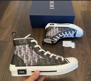 Dior B23 High Top Sneakers Black Grey | Shoes for sale in Lagos State, Victoria Island