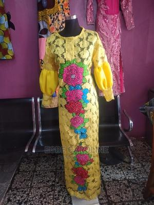 Lace Dress With Ankara | Clothing for sale in Lagos State, Maryland