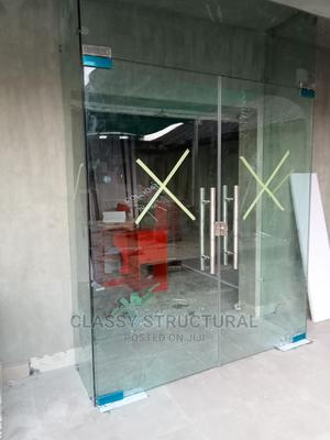 Frameless Fixed Glass With Swing Door   Doors for sale in Lagos State, Agege