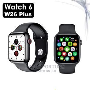W26+ Smart Watch 1.75inch Screen BT Call Body Temperature   Smart Watches & Trackers for sale in Lagos State, Ikeja