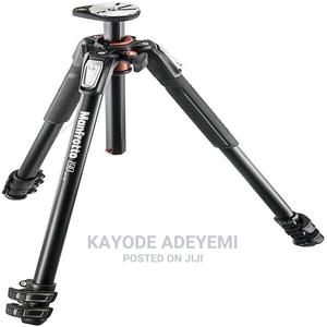 Manfrotto Aluminum 3-Section Tripod ,Black With Ball Head | Photo & Video Cameras for sale in Lagos State, Magodo