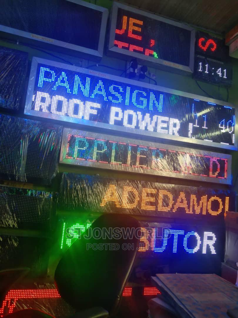 Scrolling LED Digital Signage   Stage Lighting & Effects for sale in Shomolu, Lagos State, Nigeria
