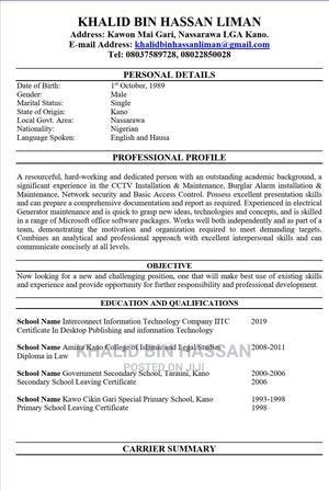 Alhaji   Accounting & Finance CVs for sale in Kano State, Kano Municipal