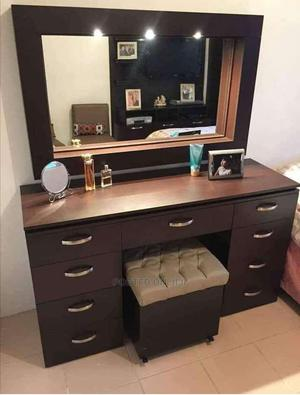 Makeup Dressing Mirror Table With Solid Wood   Furniture for sale in Lagos State, Shomolu