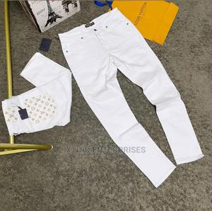 Louis Vuitton White Jeans Designer Quality Original   Clothing for sale in Lagos State, Surulere