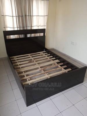 4.5 by 6 Custom- Designed Bed Frame for Sale.   Furniture for sale in Lagos State, Lekki