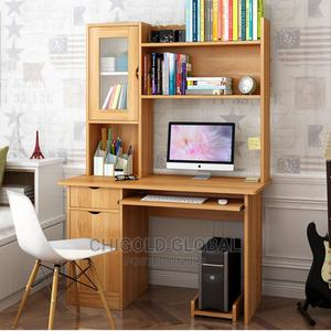 Computer Table/Desk With Glass and Shelves | Furniture for sale in Lagos State, Shomolu