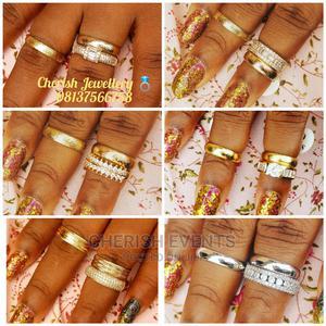 Quality Italian Gold Wedding Ring Set.   Jewelry for sale in Ogun State, Sagamu