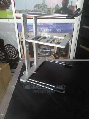 Professional Dj Laptop Stand Available in Black Silver | Audio & Music Equipment for sale in Lagos State, Ojo