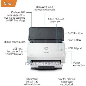 HP Scanjet Pro 3000 S4 Sheet-Feed Auto Duplex Document Scann | Printers & Scanners for sale in Lagos State, Ikeja