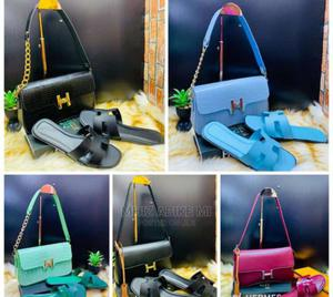Hermes Bag and Slippers | Bags for sale in Lagos State, Alimosho