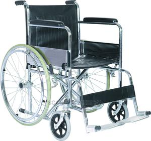 High Quality Steel Manual Foldable Wheelchair   Medical Supplies & Equipment for sale in Rivers State, Etche